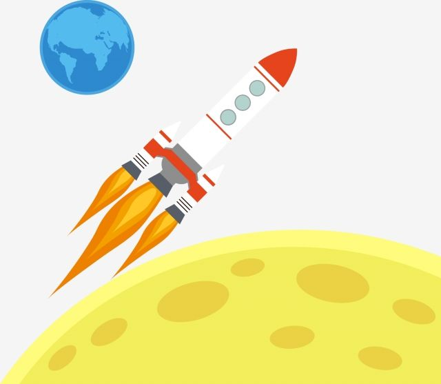Rocket Earth Moon Outer Space Rocket Clipart Space Universe Png And Vector With Transparent Background For Free Download Halloween Text Outer Space Png