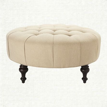 Small Sectional Sofa Our Club collection us hard wearing textural mix of cotton and eco cotton fabric u Round Tufted OttomanWhite