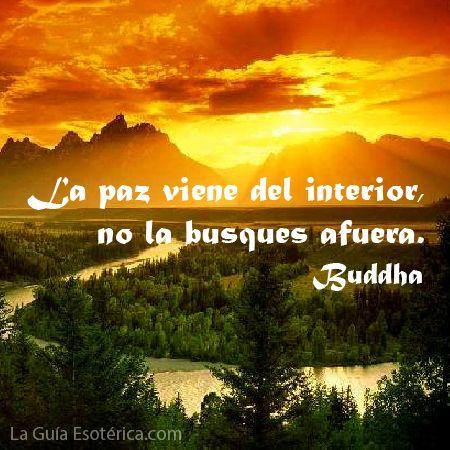 """""""La paz viene del interior, no la busques afuera"""" #Frases #Buddha"""