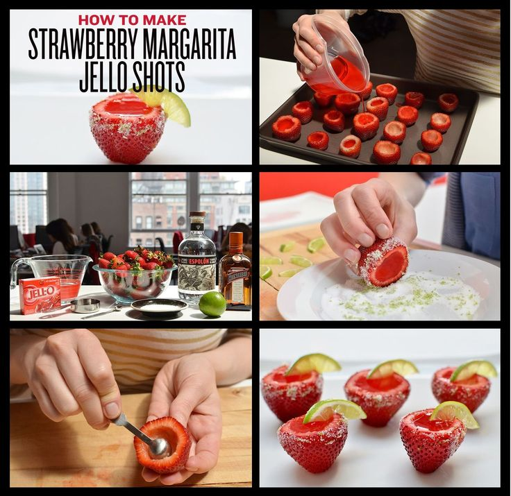 How to make Strawberry Margarita Jello Shots!