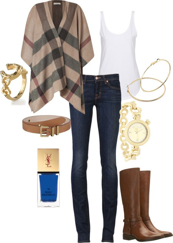 Fall 2012 by august29 on Polyvore#Repin By:Pinterest++ for iPad#  Anyone wanna buy me the Burberry & J Brand jeans?!?! Please!!