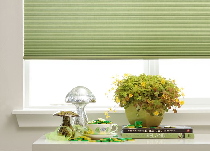 A wish of good fortune and happiness to celebrate St Patrick's Day!  Hunter Douglas Duette® Architella® honeycomb shades