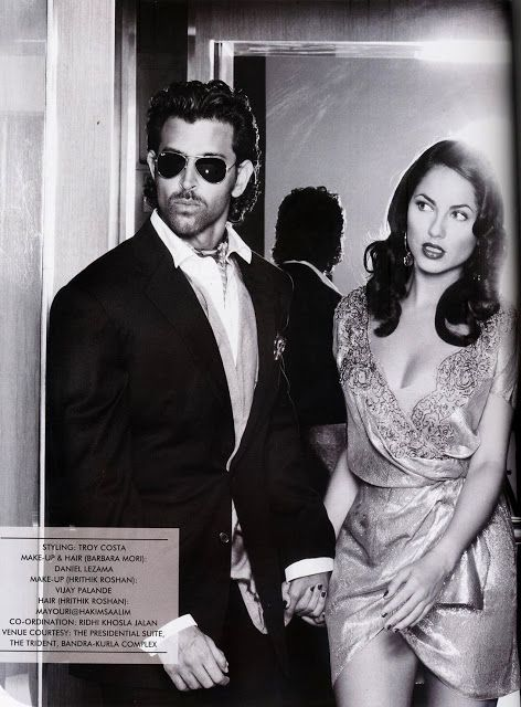 Bollywood, Tollywood & Más: Hrithik and Barbara Mori Hi! Blitz