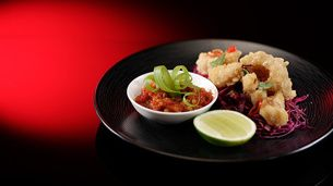 Fried Squid with Chilli Jam