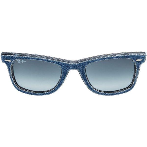Ray Ban Men's Original Wayfarer Frame - Blue ($150) ❤ liked on Polyvore featuring men's fashion, men's accessories, men's eyewear, men's sunglasses, blue, sunglasses, ray ban mens sunglasses, mens blue aviator sunglasses, mens sunglasses and mens wayfarer sunglasses