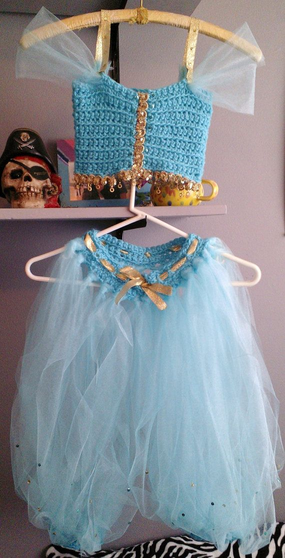 Princess Jasmine Disney Inspired Crochet Tutu Dress