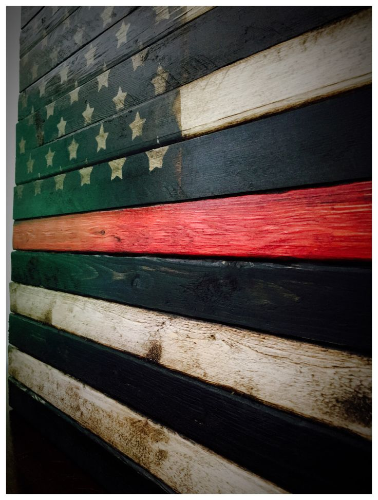 A personal favorite from my Etsy shop https://www.etsy.com/listing/399621597/thin-red-line-flag-wooden-red-line-flag