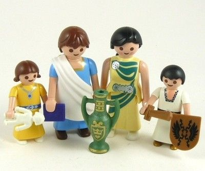 ROMAN-FAMILY-with-CHILDREN-Royal-Noble-People-Figures-Playmobil