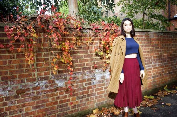 Rosa Hoskins in Judy Wu #SS15 Pleated Shoulder Trench Coat IMG_4712