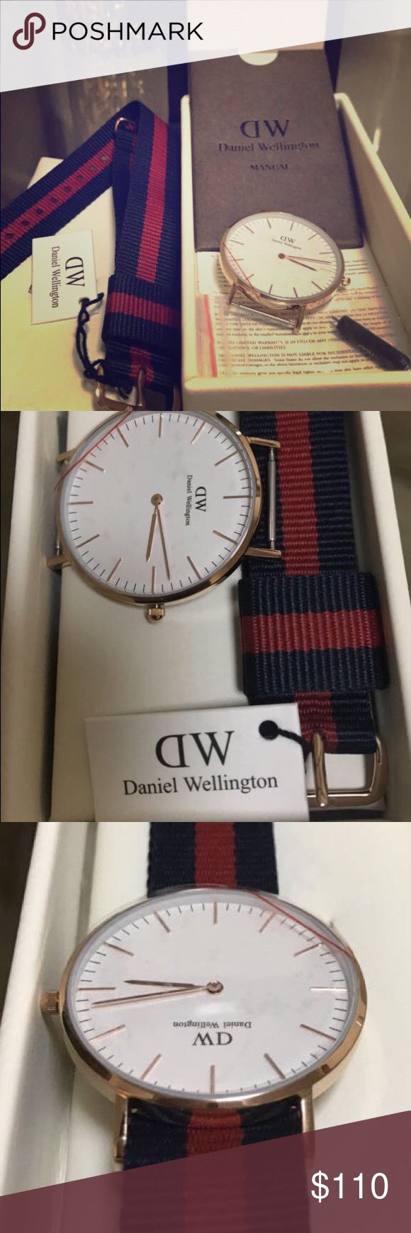 Daniel Wellington Classic Oxford Eggshell White Daniel Wellington Classic Oxford Eggshell White Dial Two Tone Ladies Watch  BRAND NEW- WITH TAG -100% AUTHENTIC  RETAIL PRICE: $175 Interchangeable NATO Strap Case Size: 36mm Case Thickness: 6mm Dial Color: Eggshell White Water Resistant: 3 ATM(Rain) Japanese Quartz Movement Daniel Wellington Accessories Watches