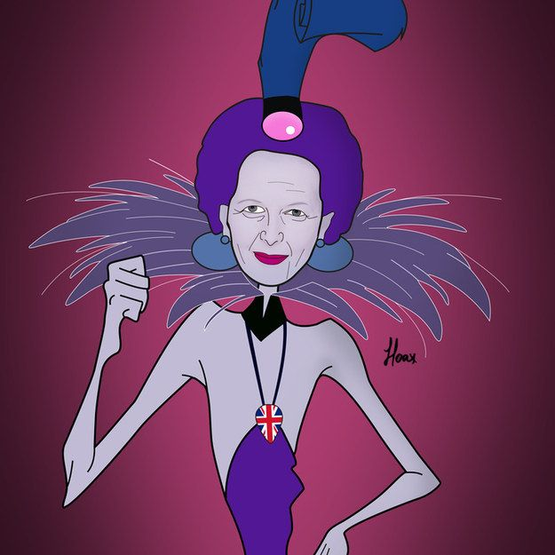 Margaret Thatcher as Yzma from The Emperor's New Groove.