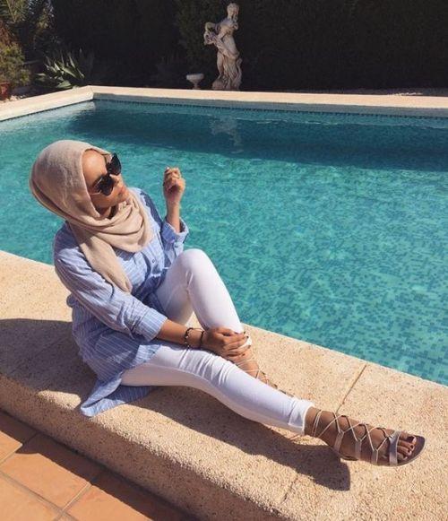 casual laid back hijab