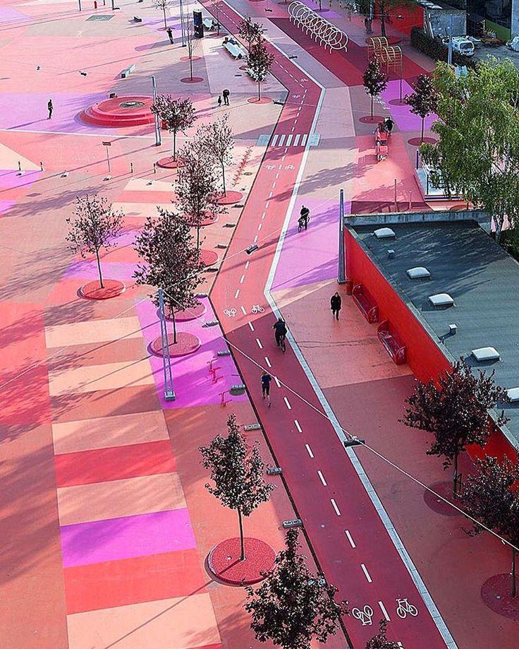 Superkilen Park by Bjarke Ingels Group & Topotek 1 & Superflex. (2012) Location: #Copenhagen #Denmark #architectdesigne