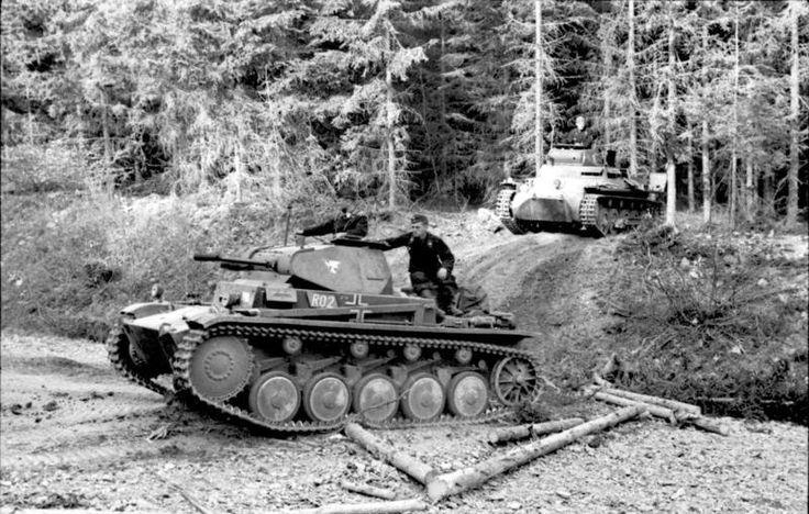 Die kampfschwachen Pz II trugen die Hauptlast der Gefechte in Frankreich und Polen