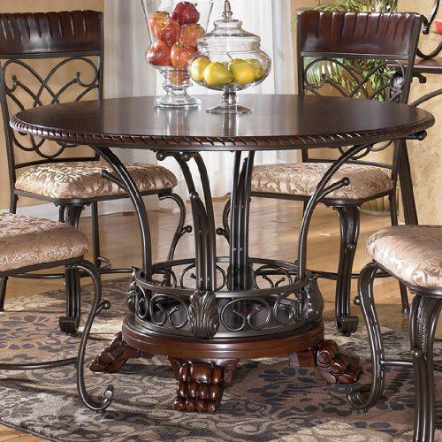 Traditional Dark Brown Alyssa Dining Room Table Ashley