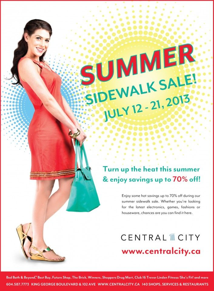 Don't miss the upcoming sales and promotions starting Friday July 12th to Sunday July 21st! Enjoy some hot savings up to 70% off during our summer sidewalk sale.