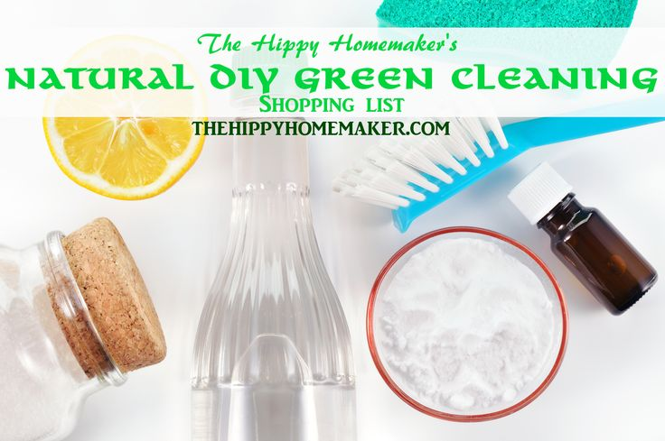 Natural DIY Green Cleaning Shopping List - thehippyhomemaker.com