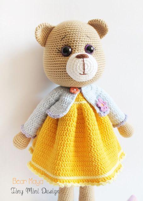 Amigurumi Ayı Maya -Amigurumi Bear Maya - Tiny Mini Design
