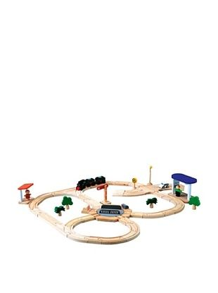 52% OFF PlanToys Road & Rail Turntable Play Set
