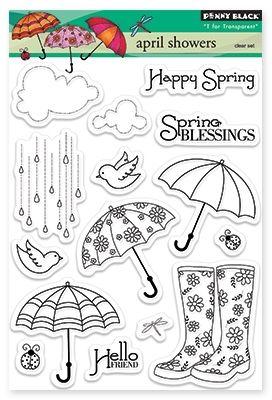 Penny Black April Showers - Clear Stamp. - bjl