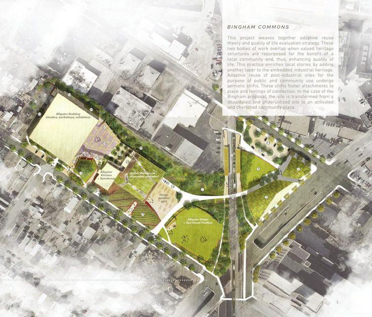 A portfolio of landscape architecture design work for Site plan with landscape