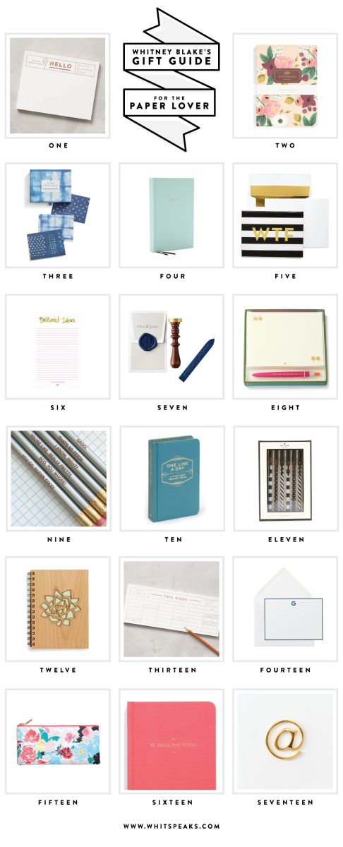 Gift ideas for the paper lover - because who doesn't love stationery?
