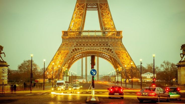 Choosing a destination for your trip - check out my destination tab for features - France - Eiffel Tower in the evening