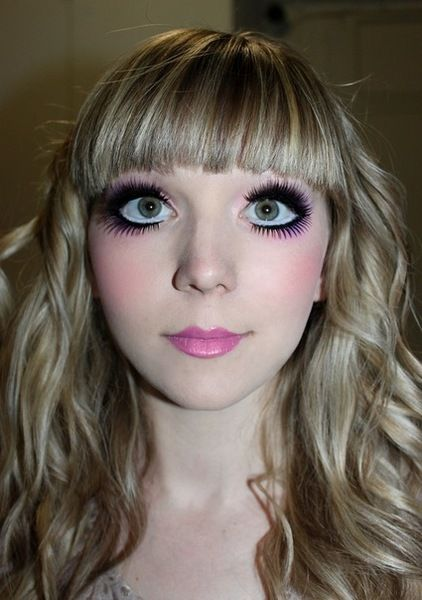 doll makeup. I don't like the lips on this one.