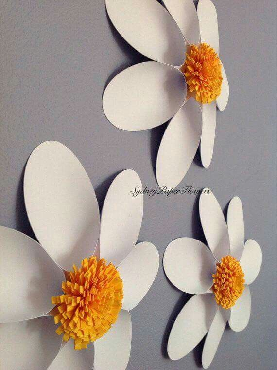 Paper flower for wall decoration