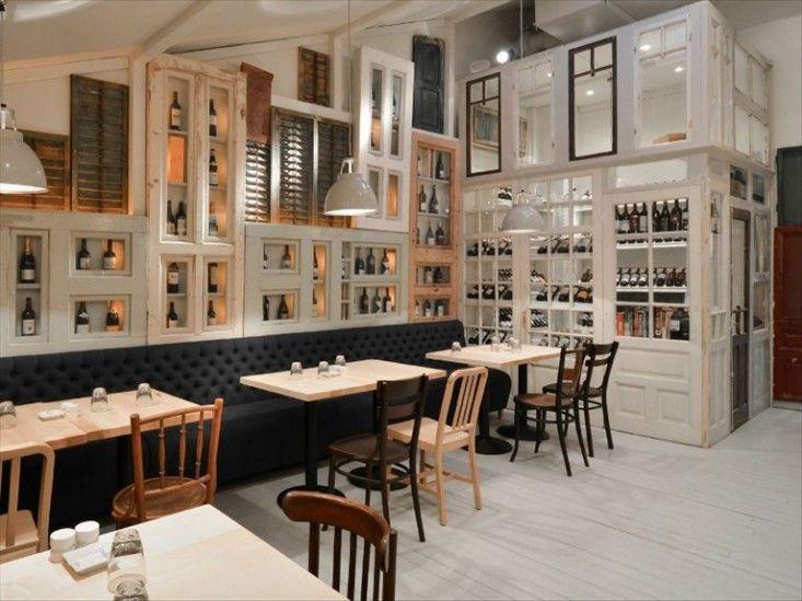 Restaurant Bon in Bucharest Romania via Remodelista
