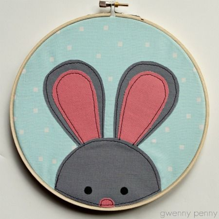 Easter Bunny Embroidery Hoop Tutorial