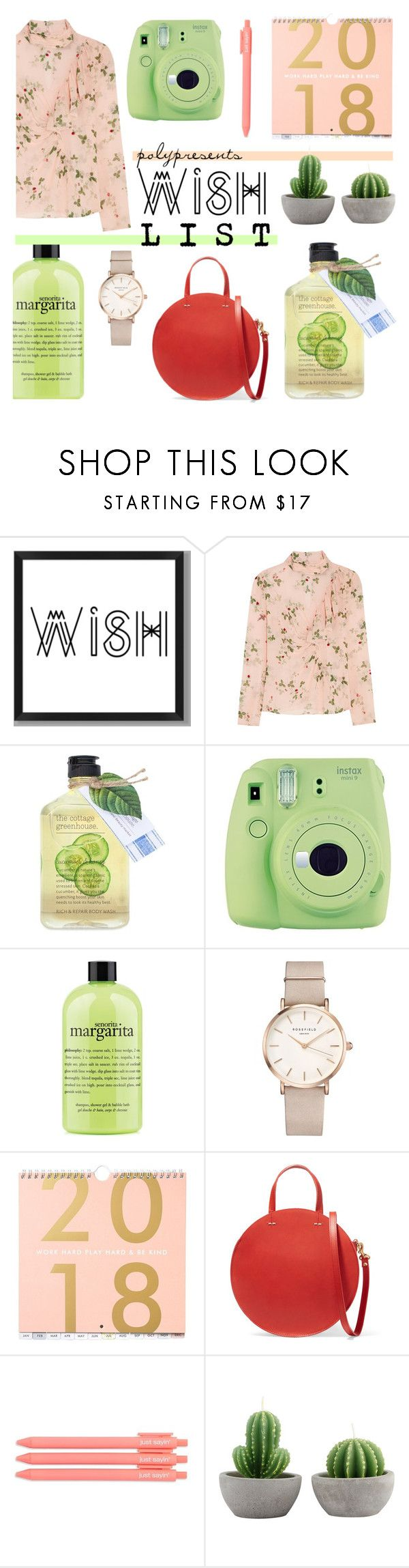 """""""#PolyPresents: Wish List"""" by anishabgv ❤ liked on Polyvore featuring PBteen, Topshop Unique, Fujifilm, philosophy, ROSEFIELD, Clare V., contestentry and polyPresents"""