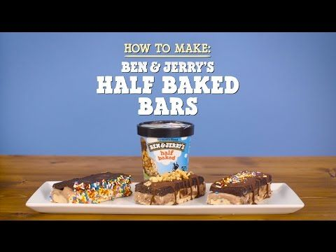 Ben & Jerry's Half Baked Bars - Layers of brownie & cookie dough w/ B&J's ice cream in between?!?! Pretty sure these would be amazing with any flavor of ice cream!!!