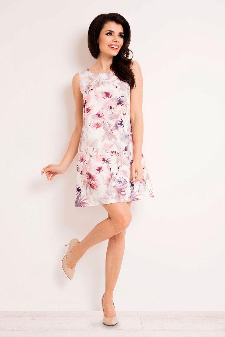 Φλοράλ μίνι φόρεμα M12295% Polyester 5% Spandex