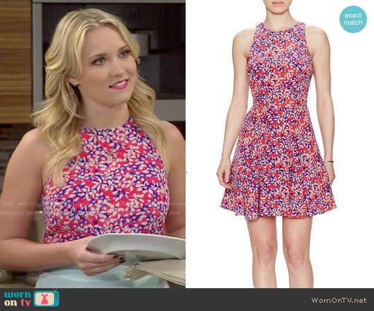 Gabi's red floral dress on Young and Hungry.  Outfit Details: http://wornontv.net/52759/ #YoungandHungry