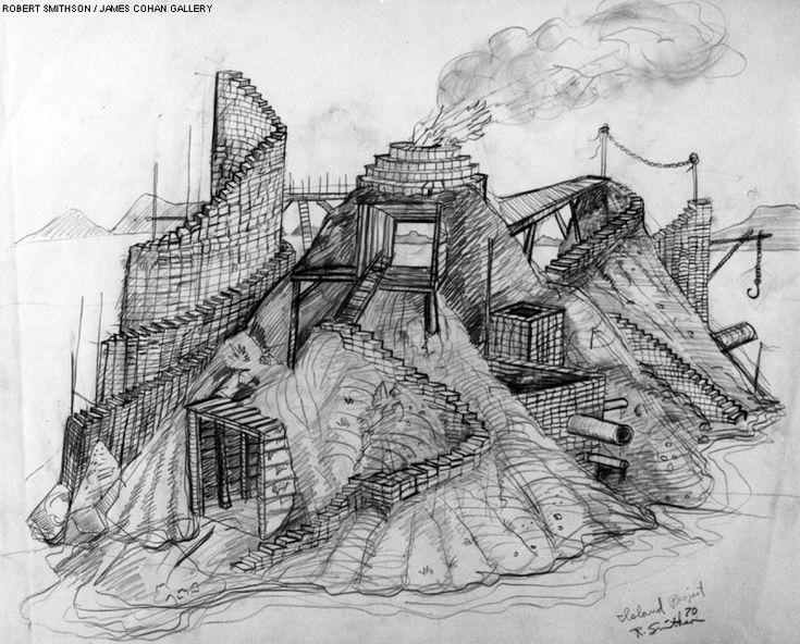 Robert Smithson. Study for Island project