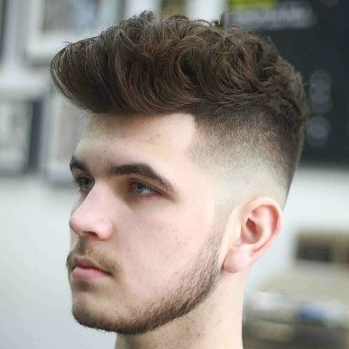 Low Bald Fade with Quiff
