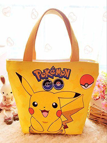 Cute Pikachu Pokemon Multipurpose Lunch Bag Yellow (US Seller) - Pokemon Coin Purse & Pokemon Bag