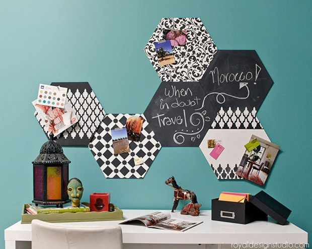 Hexagon Wall Art Wood Shapes For Painted DIY Wall Decor