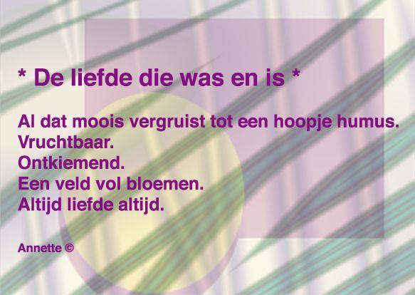 Gedicht van Annette Lemaire ©