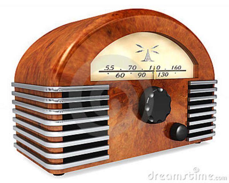 Art-Deco style radio