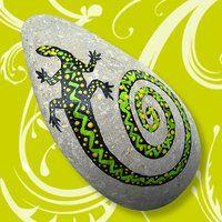 #Danys Steinreich - Kunstvoll bemalte #Steine - pierre peinte