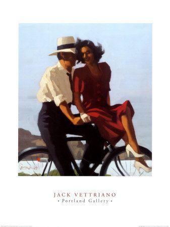 """[Jack Vettriano]  """"my dear we're // slow dancin in a // burnin room"""" jm"""