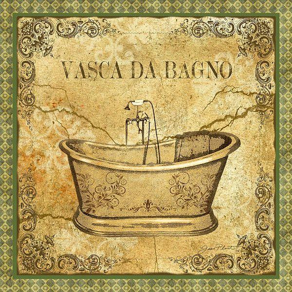 Vintage Vasca Da Bagno Print By Jean Plout