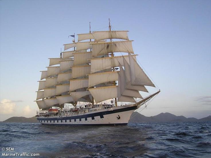ROYAL CLIPPER  caribbean (Широта / Долгота: 18.63866 / -72.18478