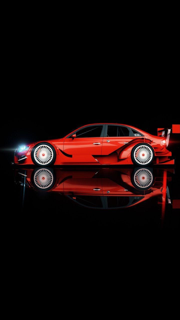 Red Audi Sports Car Minimal Art Wallpaper Car Wheel Ideas Car Wheels Car Wheels Rims