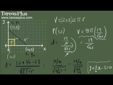 Volumen de un sólido de revolución (teorema de pappus) ejemplo 1