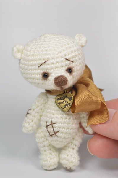 Mini White Thread Crochet Teddy / Teddy Bears & Pals / Teddy Talk: Creating, Collecting, Connecting