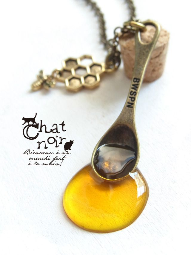 【再販】ごちそうスプーンのネックレス*はちみつ by niro アクセサリー ネックレス