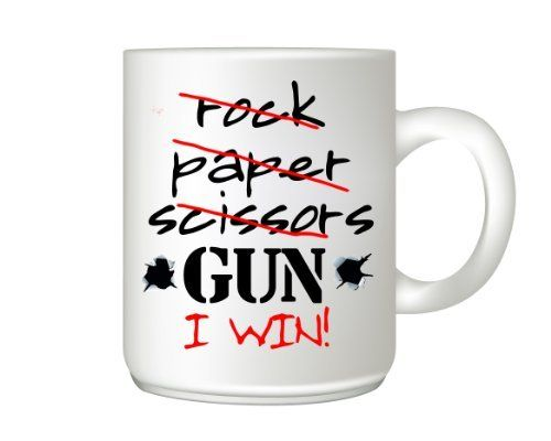 White Coffee Mug with Print Nice Gift for Gun Owners
